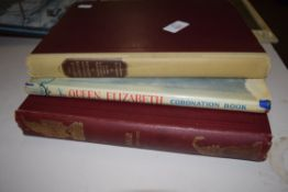 """QUEEN ELIZABETH CORONATION BOOK, TOGETHER WITH PUNCH MAGAZINE JULY-DEC 1912 AND FURTHER VOL """"THE"""