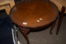 CABRIOLE LEGGED CIRCULAR COFFEE TABLE