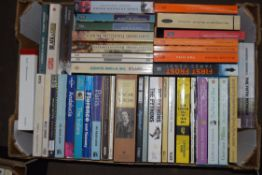 BOX CONTAINING PAPERBACK BOOKS INCLUDING REFERENCE ETC