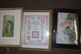 FRAMED PHOTOGRAPHIC PRINT OF NORTH WALSHAM MARKET PLACE, TOGETHER WITH VARIOUS OTHER FRAMED