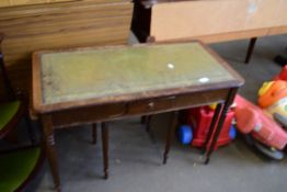 NEST OF THREE LEATHER TOPPED TABLES