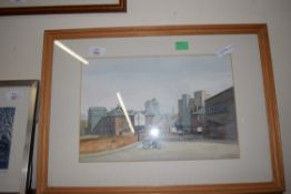 DIANA PARSONS, COLMAN'S GATE, KING ST, NORWICH, LINE AND WASH, SIGNED LOWER LEFT, FRAMED AND GLAZED