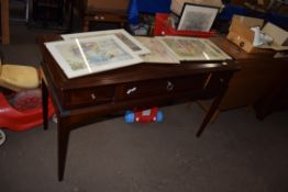 MAHOGANY EFFECT REPRODUCTION DRESSING TABLE, LENGTH APPROX 120CM