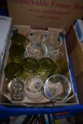 BOX OF GLASS WARES