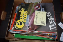 BOX VINTAGE MAGAZINES TO INCLUDE MOTORCYCLE AND CLASSIC CAR INTEREST
