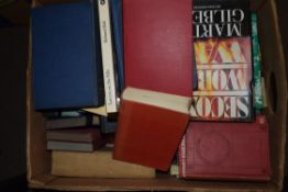 BOX CONTAINING REFERENCE BOOKS ETC