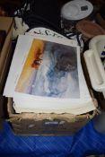BOX CONTAINING LARGE QTY MODERN PRINTS AFTER THOMAS LOWNDES, JOHN COTMAN ETC