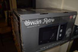 BOXED SWAN RETRO MICROWAVE