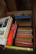 ONE BOX OF MIXED BOOKS