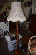 TURNED WOOD STANDARD LAMP