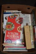 BOX CONTAINING MIXED BOOKS, COOKERY ETC