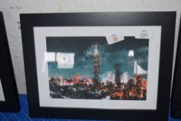 TAIWAN CITY PRINT FRAMED