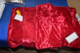 THREE CRUSHED VELVET CUSHION COVERS, 45 X 45CM APPROX