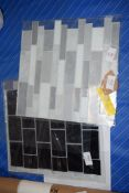 QTY OF PVC PEEL AND STICK MOSAIC TILES