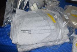 TWO-PIECE MULTI-SIZED TOWEL SET, SILVER