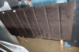 DOUBLE UPHOLSTERED HEADBOARD, BROWN