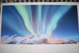ICELAND NORTHERN LIGHTS CANVAS PICTURE 120 X 60CM