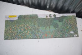 CANVAS PICTURE OLD MASTERS POPPYFIELD, 90 X 30CM