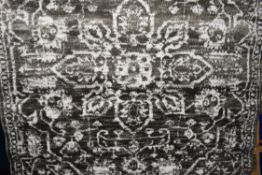 Well woven dazzle power loom grey/white rug, 120 x 160. RRP £31.99