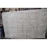Short pile grey rug, 200 x 250cm