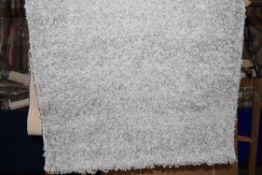 Epperson flat weave light grey rug, 80 x 150cm