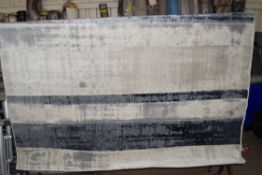Flat weave blue/grey rug, 200 x 290cm