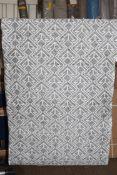 Yoga 100 grey/cream rug, 80 x 150cm