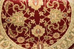 Bohannon tufted red rug