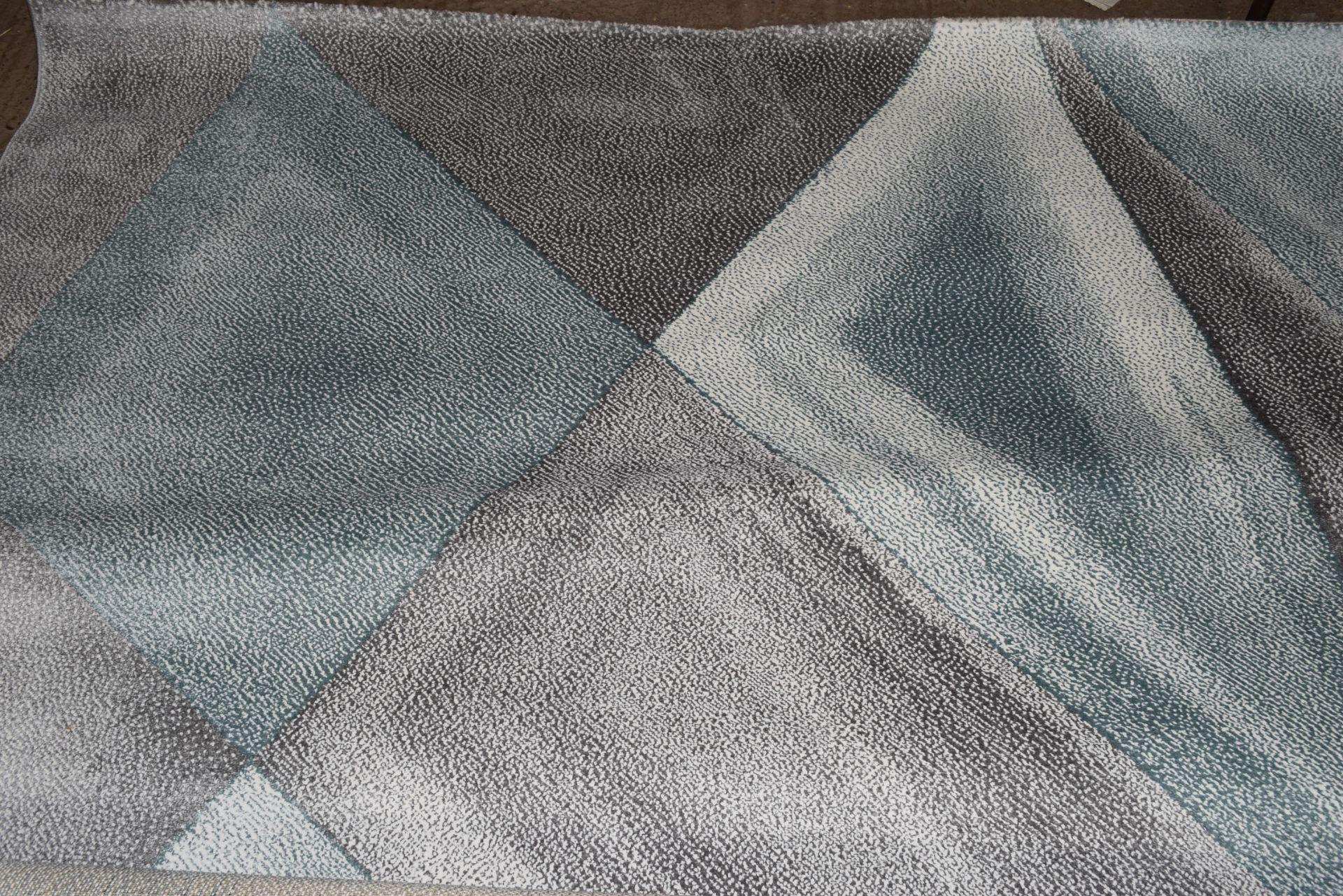 Norden Home flat weave rug, blue/grey, 160 x 230cm. RRP £67.99