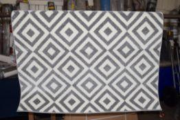 Hashtag Home Elaine grey area rug, 75 x 40cm. RRP £63.99