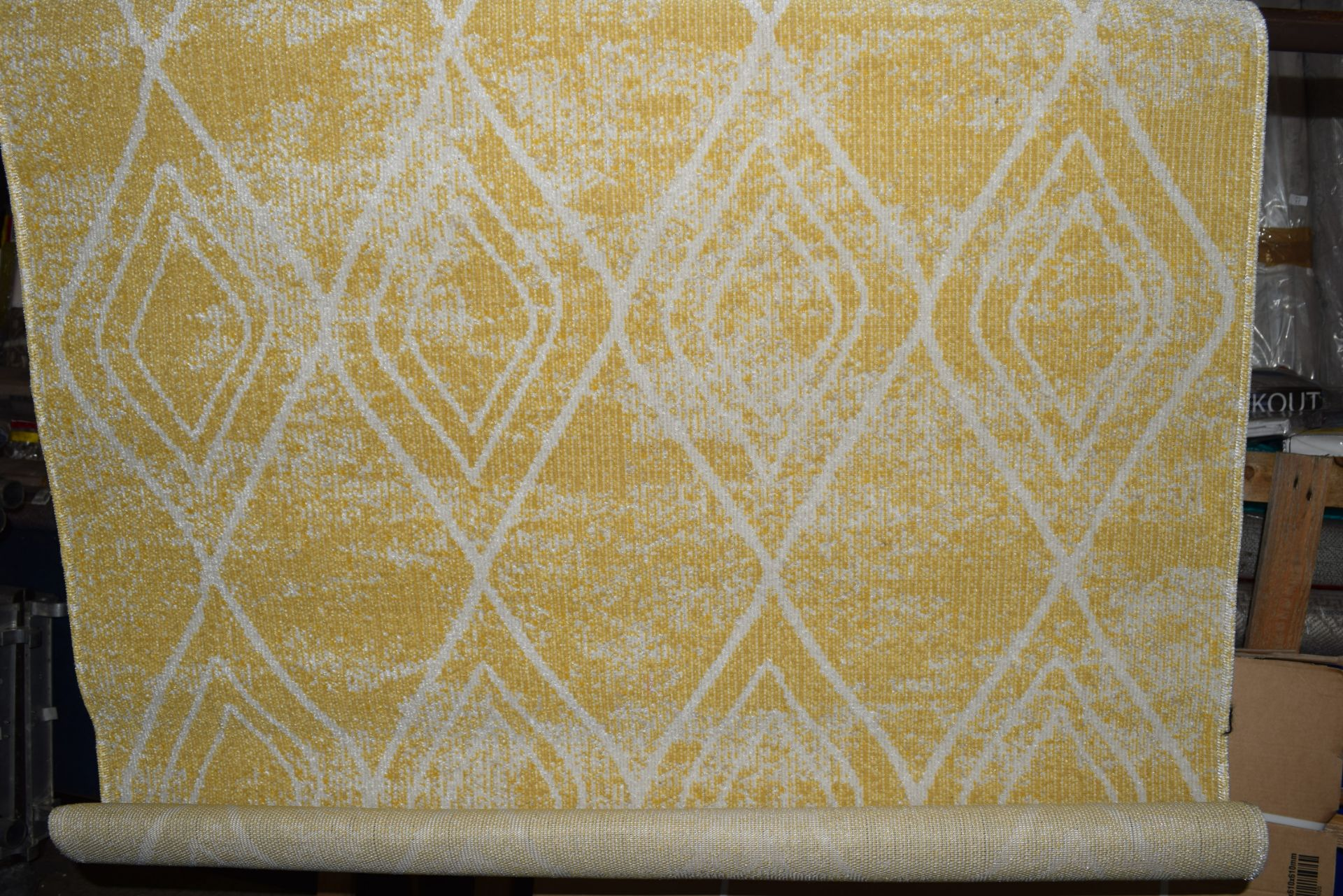 World Menagerie Margaret flat weave yellow/outdoor rug, RRP £54.99 - Image 2 of 3