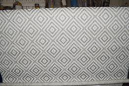Katherine flat weave grey rug, 160cm wide
