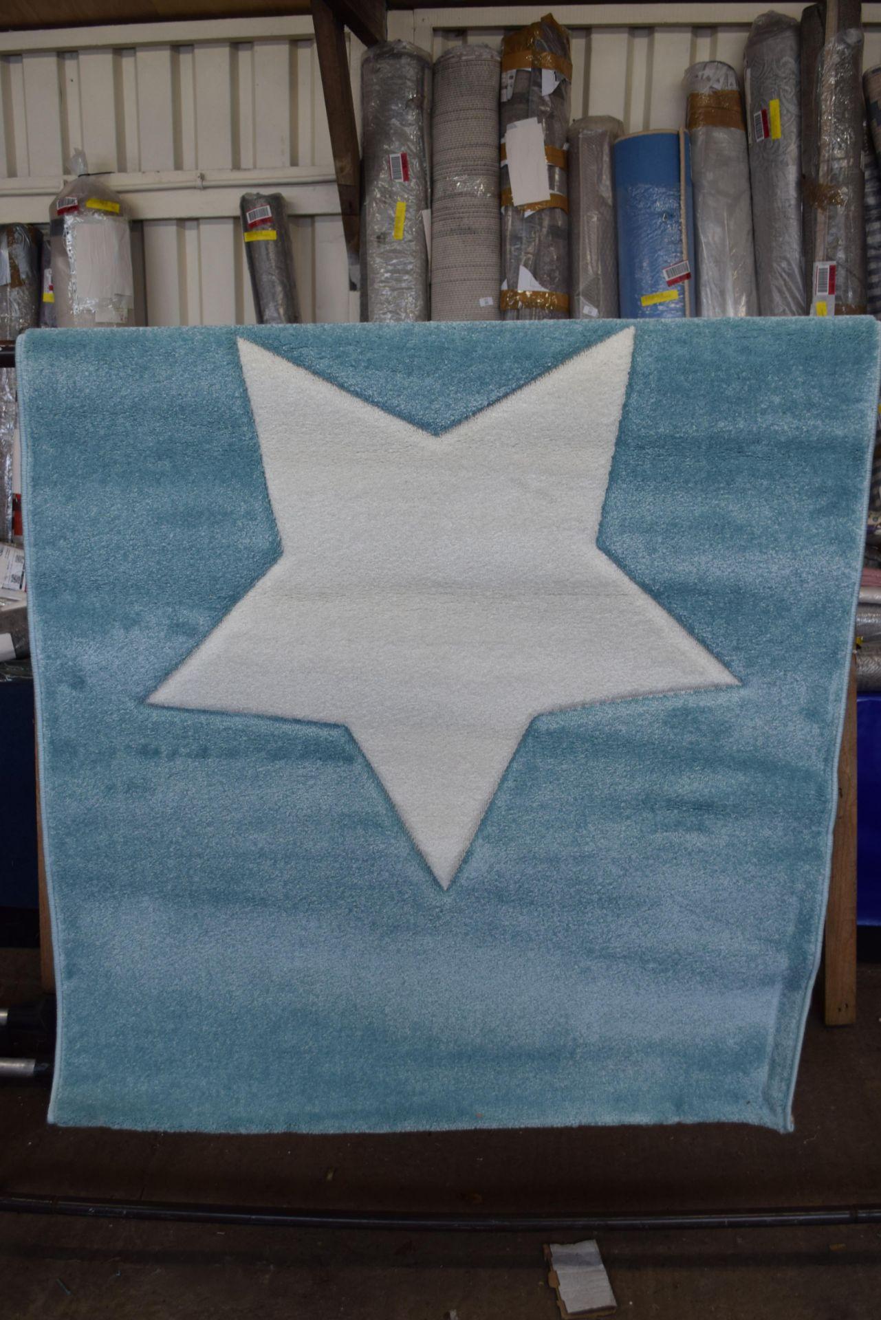 Isabel & Max Benjamin blue rug, 120 x 170cm RRP £65.99 - Image 2 of 3
