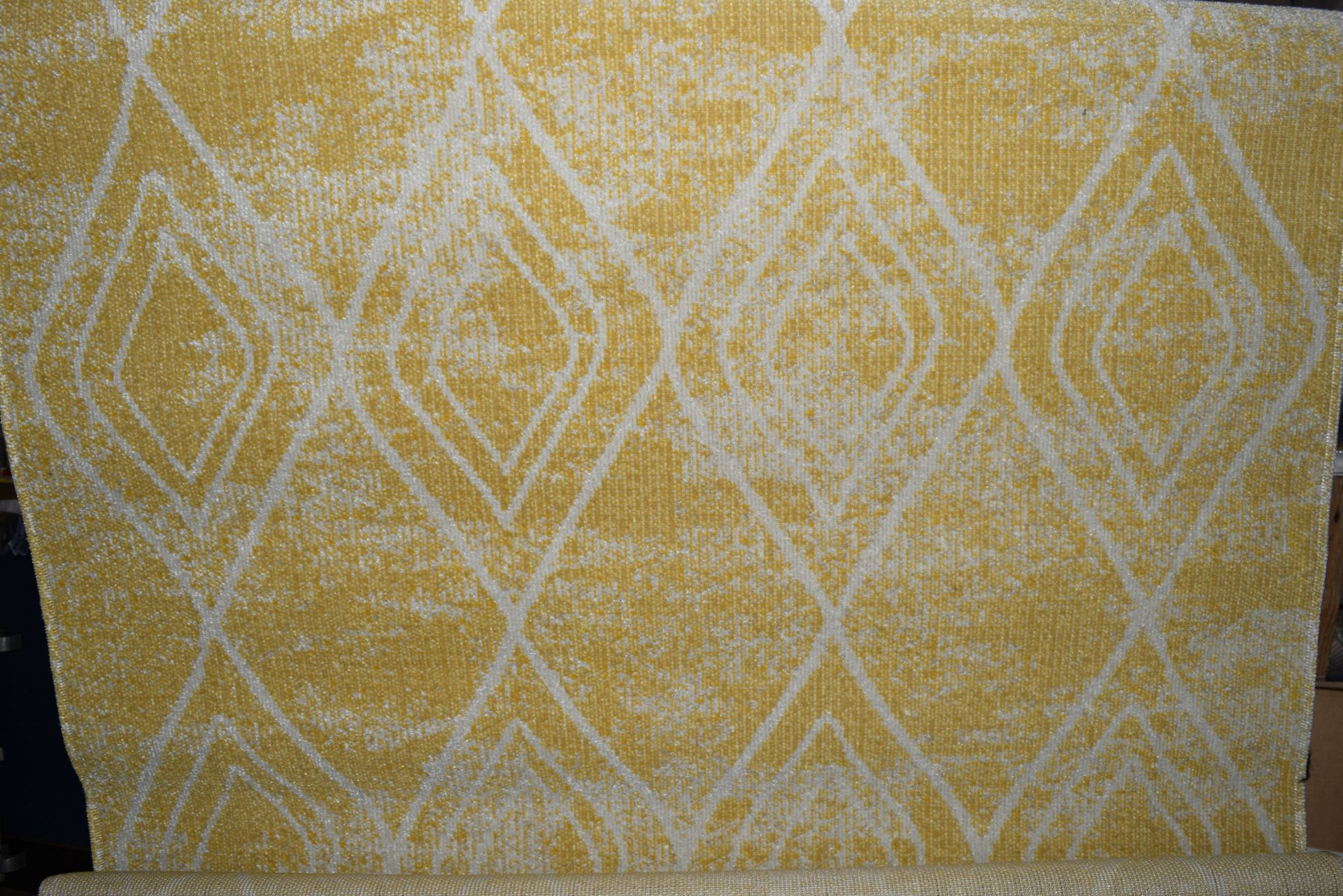 World Menagerie Margaret flat weave yellow/outdoor rug, RRP £54.99
