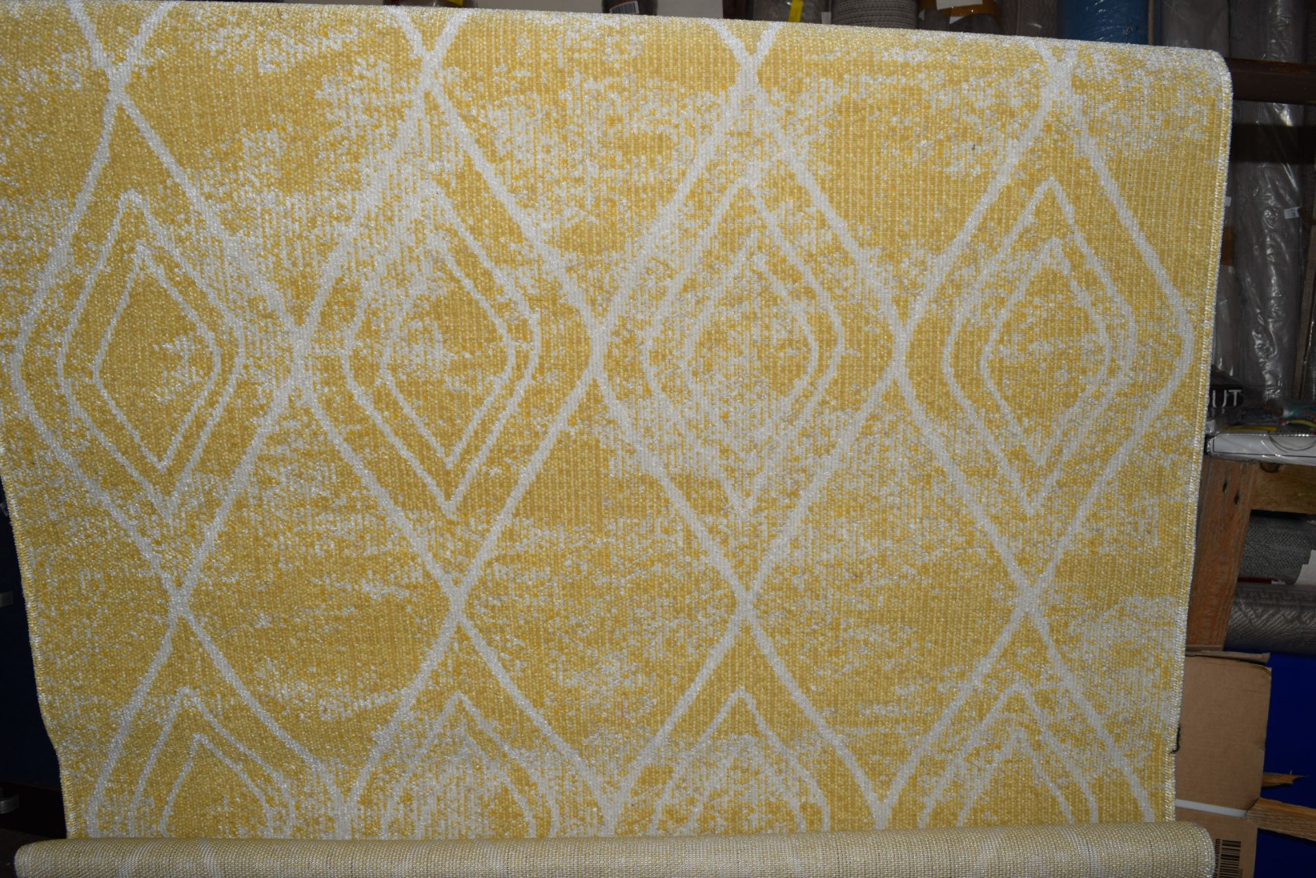 World Menagerie Margaret flat weave yellow/outdoor rug, RRP £54.99 - Image 3 of 3