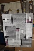 17 stories meloi rug in grey, 60 x 110cm. RRP £34.99