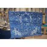 Linden dark blue rug, 2ft x 3ft