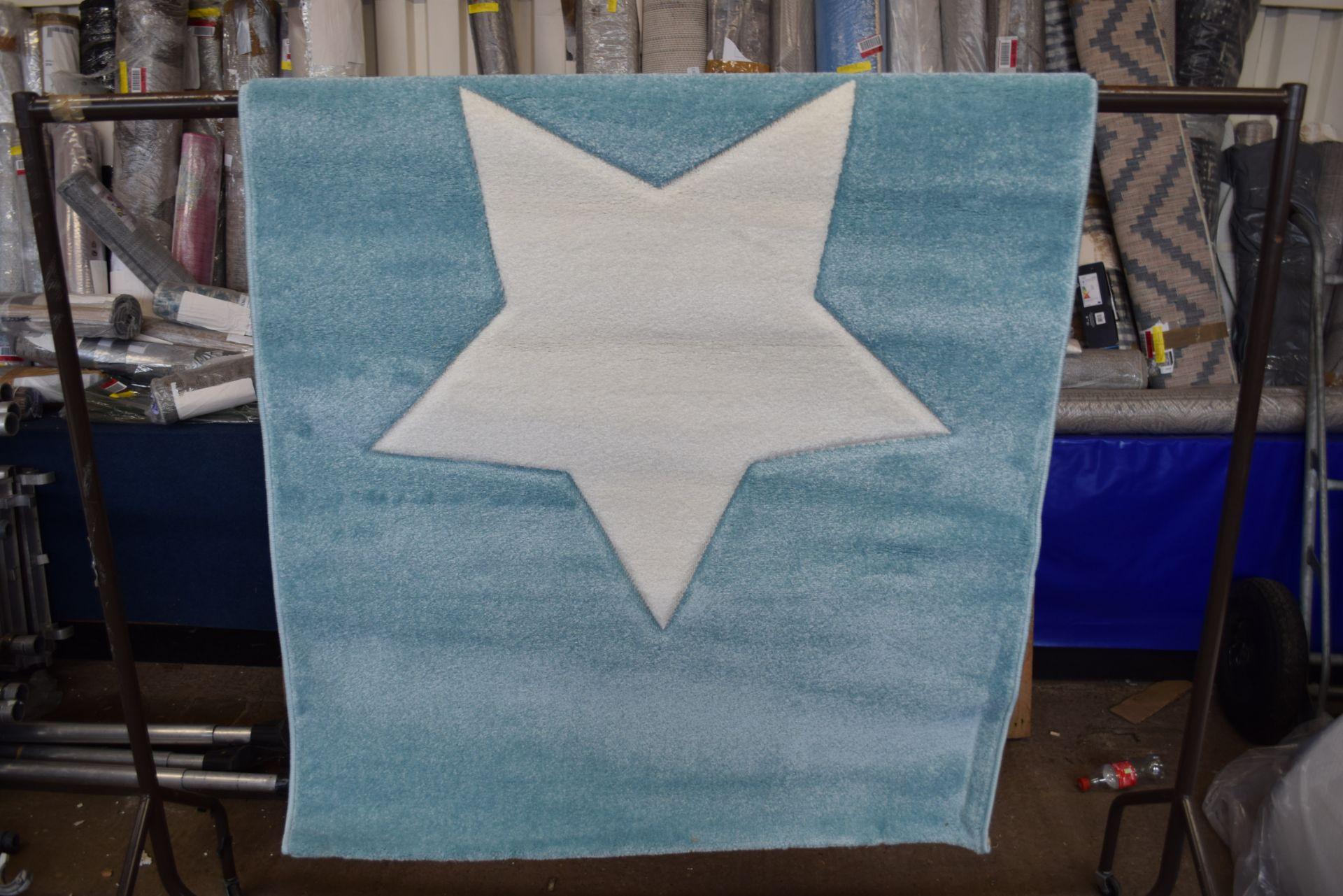 Isabel & Max Benjamin blue rug, 120 x 170cm RRP £65.99 - Image 3 of 3