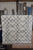 Mint rugs Archer tufted cream/black rug, 120 x 170. RRP £101.99