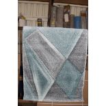 Griggs rug, blue/grey, 80 x 150cm