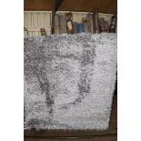 Metro Lane rug, Aviva, grey, 64 x 79cm. RRP £141.99