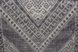 Well woven Verona Leila tribal medallion blue rug, 160 x 220cm. RRP £83.99
