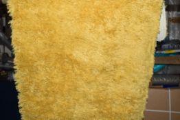 Zipcode design Salma shag yellow rug, 80 x 150cm, RRP £54.99