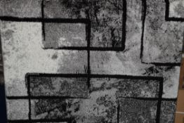 Zipcode design rug Alaya, black/grey, 80 x 150cm. RRP £45.99