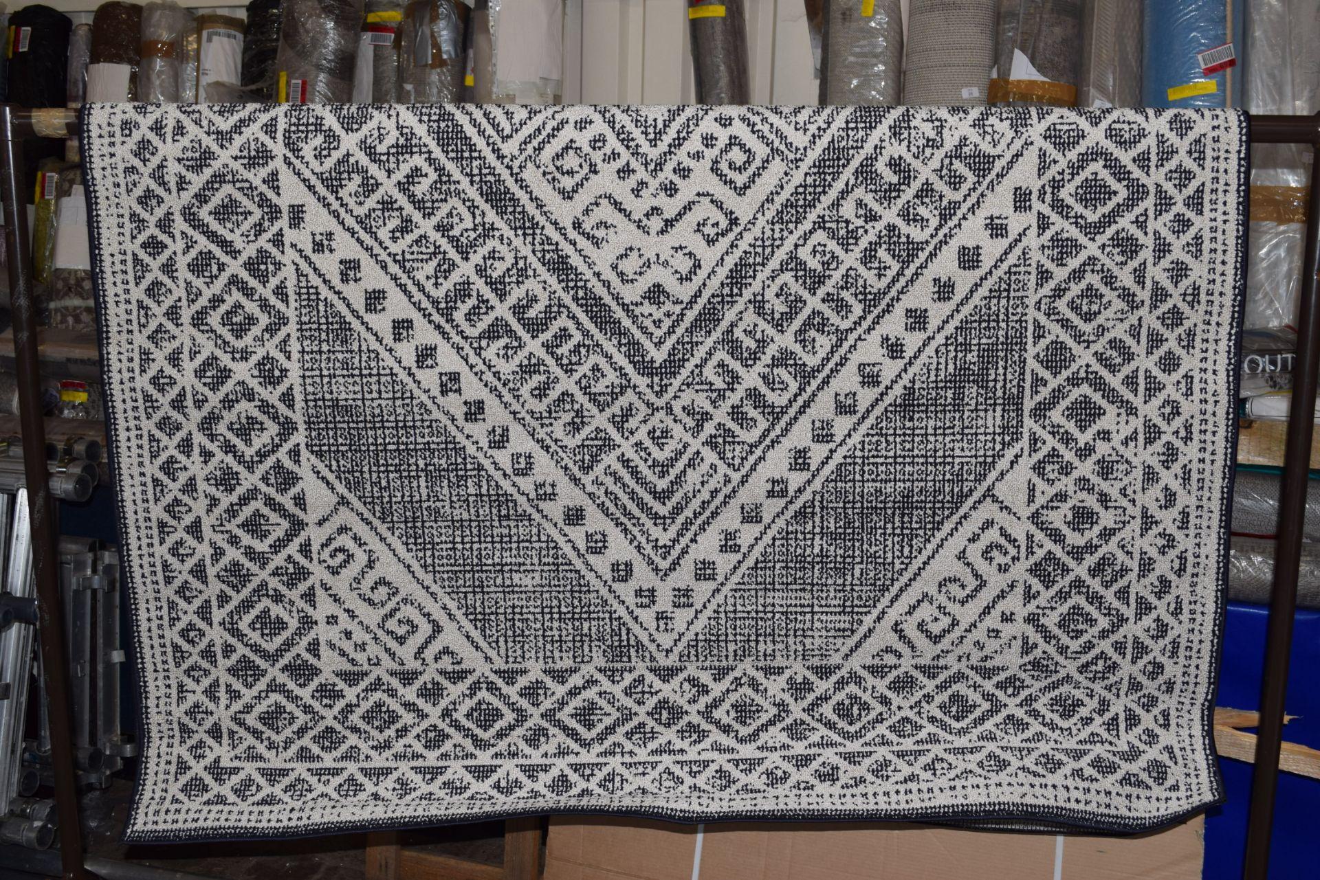 Well woven Verona Leila tribal medallion blue rug, 160 x 220cm. RRP £83.99 - Image 3 of 3
