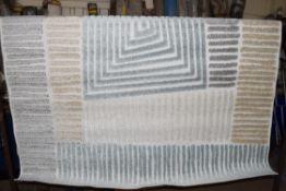 House of Hampton Dale rug, beige/blue, 160 x 230cm. RRP £79.99