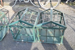 PAIR OF DECORATIVE CONSERVATORY PLANTERS/PLANT SUPPORTS, HEIGHT 45CM, WIDTH 40CM