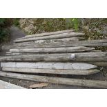 QTY OF VARYING SIZED TIMBER STAKES