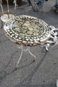 SMALL GARDEN SIDE TABLE, HEIGHT 50CM, WIDTH 40CM