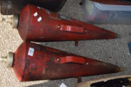 Pair of vintage fire extinguishers